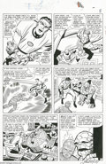 Original Comic Art:Panel Pages, Jack Kirby and George Roussos (as George Bell) - Fantastic Four#27, page 7 Original Art (Marvel, 1964). When Mr. Fantastic ...