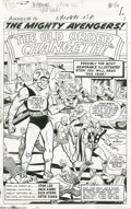 Original Comic Art:Splash Pages, Jack Kirby and Dick Ayers - Avengers #16 Splash Page 1 Original Art(Marvel, 1965)....