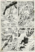 Original Comic Art:Panel Pages, Jack Kirby and Frank Giacoia - Fantastic Four #97 page 13 OriginalArt (Marvel, 1970). Reed, Johnny, and Ben are trapped in ...