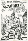 Original Comic Art:Splash Pages, Jack Kirby and D. Bruce Berry - Kamandi, The Last Boy on Earth #19Splash Page 12 Original Art (Marvel, 1974). During a desp...