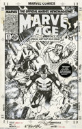 "Original Comic Art:Covers, Jim Lee - Marvel Age #67 Cover Original Art (Marvel, 2000). Jim Leegets ""wet and wild"" with this spectacular group portrait..."