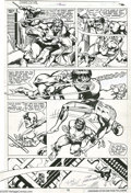 Original Comic Art:Panel Pages, Frank Miller and Joe Rubinstein - Daredevil #163, page 19 OriginalArt (Marvel, 1979). Daredevil tries to help Bruce Banner ...