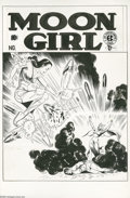 "Original Comic Art:Covers, Sheldon Moldoff - Moon Girl #3 Cover Original Art (EC, 1948). ""Just once in every 700 years there appears on Earth a woman w..."