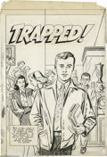 "Original Comic Art:Covers, Win Mortimer (attributed) - Trapped! #nn Cover Original Art(Harvey, 1951). One of the most notorious anti-drug ""educational..."
