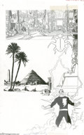 Original Comic Art:Splash Pages, George Perez - History of the DC Universe #1 Splash Page 12Original Art (DC, 1986). Back in ancient Egypt, Teth-Adam was th...