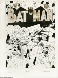 Fred Ray and Jerry Robinson - Batman #11 Cover Original Art (DC, 1942). With a surreal, hard-hitting battle between the...