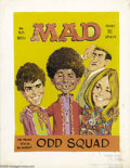 Original Comic Art:Miscellaneous, Jack Rickard - Mad #127 Preliminary Cover Original Art (Mad, 1969).Mad's curly-haired boy with a gap-toothed smile, Alf...