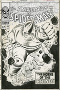 Original Comic Art:Covers, John Romita Sr. and Mike Esposito - Amazing Spider-Man #41 CoverOriginal Art (Marvel, 1966). The rampaging Rhino makes his ...