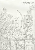 Original Comic Art:Miscellaneous, Don Rosa - Walt Disney's Comics and Stories #602 Cover PreliminaryOriginal Art (Gladstone, 1996). The finished version of t... (2items)