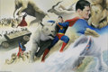 Original Comic Art:Splash Pages, Alex Ross - Superman: Peace on Earth 2-page Splash Original Art(DC, 1998). Written by Paul Dini and sumptuously illustrated...