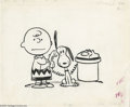 Original Comic Art:Covers, Charles Schulz - Charlie Brown and Snoopy Illustration Original Art(Holt, Rinehart, and Winston, 1965). Once again Snoopy p... (2items)