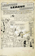 """Original Comic Art:Complete Story, Mike Sekowsky and Bernard Sachs - Justice League of America #7Complete 25-page Story """"The Cosmic Fun-House!"""" Original Art (DC,... (25 Coins)"""