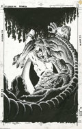 Original Comic Art:Covers, Chris Wozniak - The Spectre #16 Cover Original Art (DC, 1988). TheBlood Red Moon Cult's blood-hungry demon goes for the Spe...