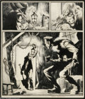 Original Comic Art:Panel Pages, Bernie Wrightson - Scream Door #1 Cover Original Art (1971). BernieWrightson's life-long affection for the Frankenstein myt...