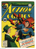 Golden Age (1938-1955):Superhero, Action Comics #51 (DC, 1942) Condition: VG. First appearance of the Prankster. Fred Ray cover. Ray, Mort Meskin, Bernard Bai...