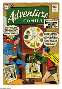 Adventure Comics #253 (DC, 1958) Condition: FN/VF. First meeting of Superboy and Robin. Green Arrow feature by Jack Kirb...