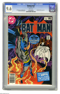 Batman #319 (DC, 1980) CGC NM+ 9.6 White pages. Gentleman Ghost appearance. Joe Kubert cover. Irv Novick and Bob Smith a...