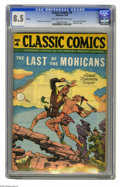 Golden Age (1938-1955):Classics Illustrated, Classic Comics #4 The Last of the Mohicans - HRN 28 (Gilberton,1946) CGC VF+ 8.5 Light tan to off-white pages. Overstreet 2...