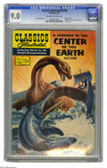 Silver Age (1956-1969):Classics Illustrated, Classics Illustrated #138 A Journey To The Center Of The Earth -Original Edition (Gilberton, 1957) CGC VF/NM 9.0 Off-white to...