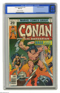 Bronze Age (1970-1979):Miscellaneous, Conan the Barbarian #65 (Marvel, 1976) CGC NM 9.4 Off-white towhite pages. Belit appearance. John Buscema cover and art. Ov...