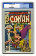 Bronze Age (1970-1979):Miscellaneous, Conan the Barbarian #76 (Marvel, 1977) CGC NM 9.4 White pages. GilKane cover. John Buscema art. Overstreet 2005 NM- 9.2 val...