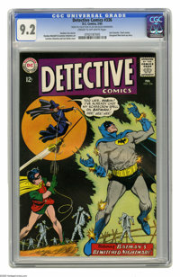 Detective Comics #336 (DC, 1965) CGC NM- 9.2 Cream to off-white pages. Flash cameo. Elongated Man back-up story. Carmine...