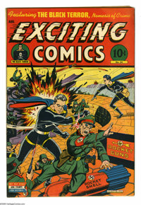 """Exciting Comics #34 (Nedor Publications, 1944) Condition: FN/VF. Alex Schomburg cover. Gerber lists as """"uncommon.&q..."""