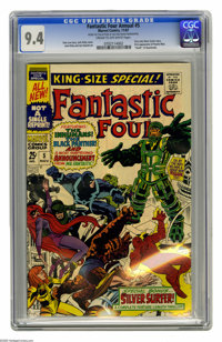 Fantastic Four Annual #5 (Marvel, 1967) CGC NM 9.4 Cream to off-white pages. First solo Silver Surfer story. First appea...