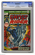 Bronze Age (1970-1979):Horror, Ghost Rider #1 (Marvel, 1973) CGC NM 9.4 White pages. Gil Kanecover. Tom Sutton art. First appearance of Son of Satan (Daim...
