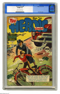 Golden Age (1938-1955):War, Heroic Comics #56 (Eastern Color, 1949) CGC VF/NM 9.0 Cream to off-white pages. Alex Toth cover. Overstreet 2005 VF/NM 9.0 v...