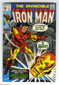Iron Man #21 and 23 Group (Marvel, 1970) Condition: NM-. Both issues have George Tuska art. Overstreet 2005 NM- 9.2 valu...