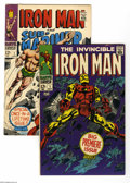 Silver Age (1956-1969):Superhero, Iron Man Group (Marvel, 1968). Two-issue group lot includes Iron Man #1 (FN-) and Iron Man and Sub-Mariner #1 (VG/FN... (2 Comic Books)