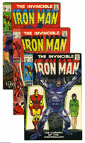 Silver Age (1956-1969):Superhero, Iron Man Group (Marvel, 1969) Condition: Average VF/NM. This group includes #12, 13, and 20. All have George Tuska art. Appr... (3 Comic Books)