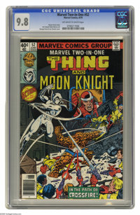 Marvel Two-In-One #52 (Marvel, 1979) CGC NM/MT 9.8 Off-white to white pages. George Perez and Joe Sinnott cover. Jim Cra...