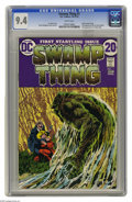 Bronze Age (1970-1979):Horror, Swamp Thing #1 (DC, 1972) CGC NM 9.4 White pages. Bernie Wrightsoncover and art. First telling of revised origin. First app...