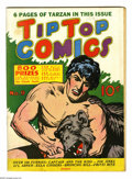 """Golden Age (1938-1955):Miscellaneous, Tip Top Comics #9 (United Features Syndicate, 1937) Condition: FN. Tarzan cover. Gerber lists as """"uncommon."""" Overstreet 2005..."""