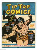 Platinum Age (1897-1937):Miscellaneous, Tip Top Comics #16 (United Features Syndicate, 1937) Condition: VG.Includes Tarzan, Li'l Abner, Bronco Bill, and others. Ge...