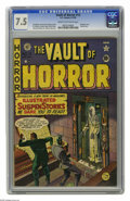 Golden Age (1938-1955):Horror, Vault of Horror #13 (EC, 1950) CGC VF- 7.5 Cream to off-whitepages. Second issue of the title. Johnny Craig cover. Morphine...