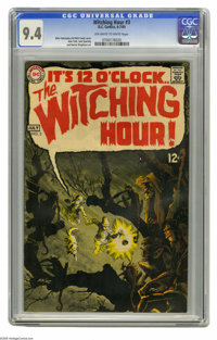 Witching Hour #3 (DC, 1969) CGC NM 9.4 Off-white to white pages. Nick Cardy cover. Alex Toth, Jack Sparling, and Berni W...