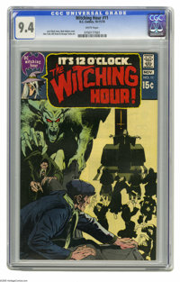 Witching Hour #11 (DC, 1970) CGC NM 9.4 White pages. Neal Adams cover. Alex Toth, Bill Draut, and George Tuska art. Over...