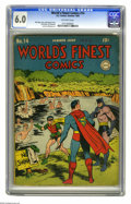 Golden Age (1938-1955):Superhero, World's Finest Comics #14 (DC, 1944) CGC FN 6.0 Off-white pages. Jack Burnley cover. John Sikela and Jerry Robinson art. Ove...