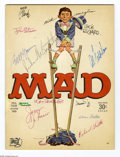 Magazines:Mad, Mad #103 Autographed by Mad Artists and Editors (EC, 1966)Condition: VG. It's an instant Mad autograph collection! Notonly...