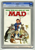 """Magazines:Mad, Mad #184 Gaines File pedigree (EC, 1976) CGC NM- 9.2 White pages.""""One Flew Over The Cuckoo's Nest"""" and """"Rhoda"""" spoofs. Bob ..."""