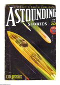 Pulps:Science Fiction, Astounding Stories (V12#5) Jan 1934 (Street & Smith, 1934)Condition: GD/VG. Howard Brown cover art. Trimmed on right andbo...