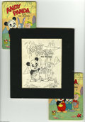 Original Comic Art:Sketches, Western Publishing Artist - Andy Panda and His Friends Cover and Interior Illustration Original Art (Whitman, 1949). This se... (18 items)