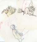 Original Comic Art:Miscellaneous, Tex Avery - Preliminary Animation Drawings Original Art, Group of 4(undated). Four lively multi-colored pencil sketches by ... (4Original Art)