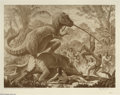 """Original Comic Art:Paintings, Ray Harryhausen - """"Valley of the Mists, Series #2: T-Rex"""" Limited Edition, Signed Print, #87/500 (Dark Horse, 1993). Ray Har..."""