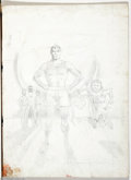 Original Comic Art:Miscellaneous, Jack Rickard - Mad #226 Cover Preliminary Original Art (EC, 1981).Superduperman stands impatiently in his super-boxers, whi...