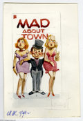 Original Comic Art:Miscellaneous, Jack Rickard - Mad About Town Cover Preliminary Original Art(Warner Books, 1983). Two uptown girls are in good hands with a...