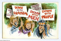 "Original Comic Art:Sketches, Jack Rickard - Down With Everything Illustration Original Art (undated). One of Mad's ""Usual Gang of Idiots,"" Jack Ricka..."